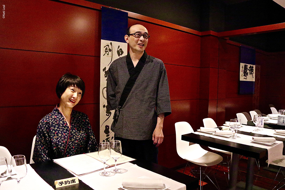 Chef Hitoshi Ikenaga and his wife Lyng