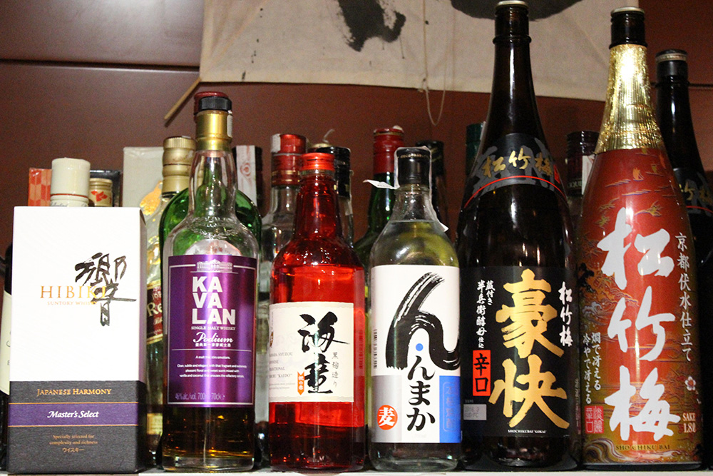 Selection of sakes in Janatomo
