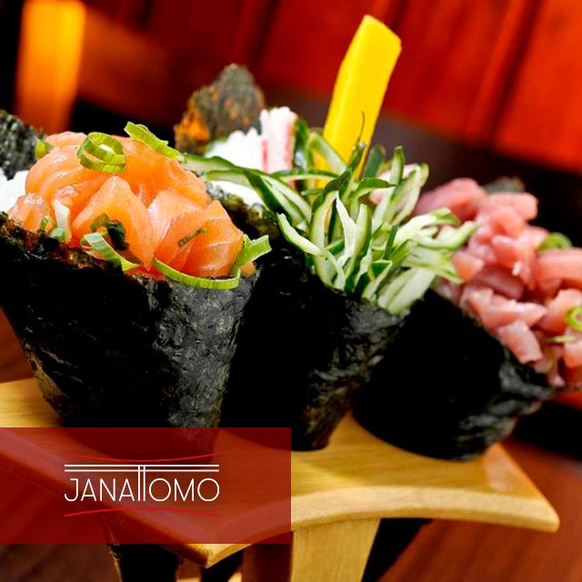 Temaki, es un tipo de maki (sushi), envuelto en alga nori de forma cónica.