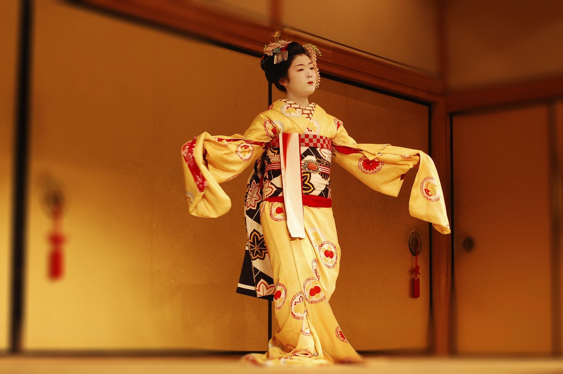 Actriz de Kabuki, teatro japonés