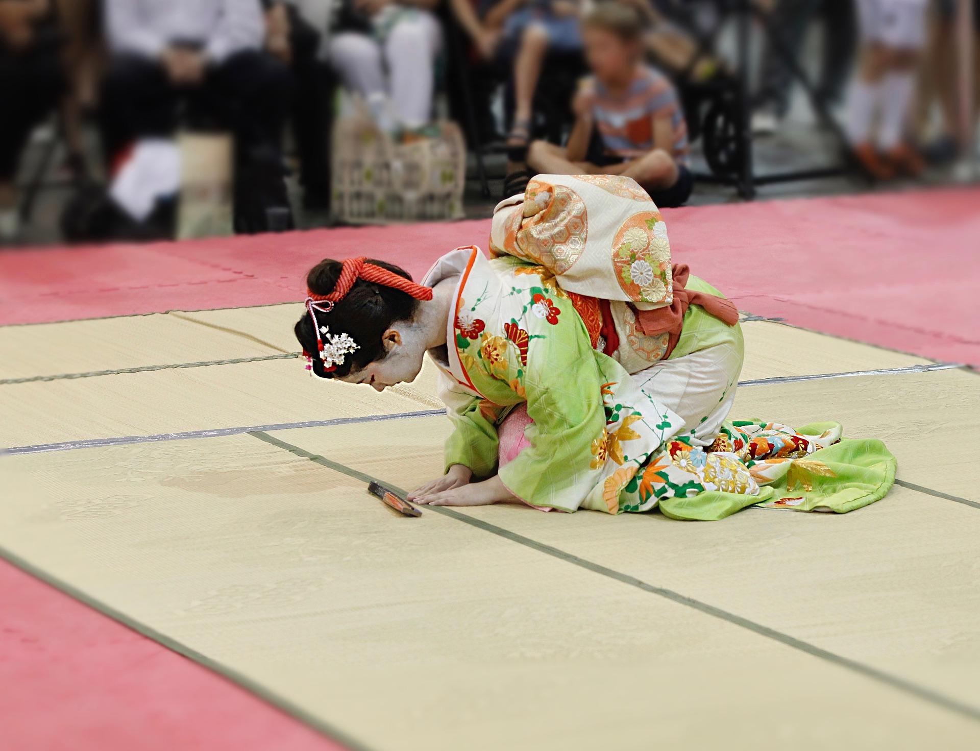 Actriz de Kabuki, teatro tradicional japonés
