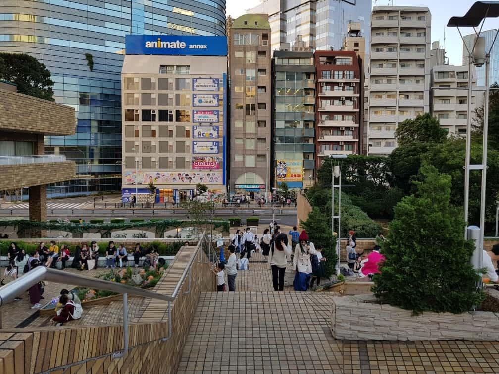 Ikebukuro, in front of Otome Road. Otaku. Tokio